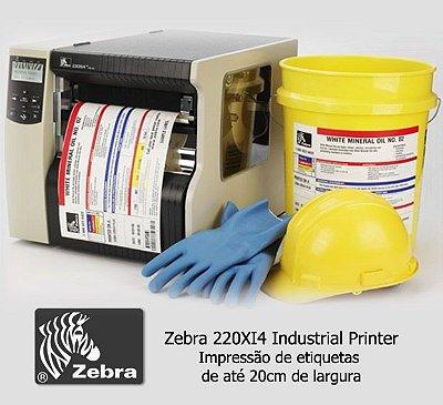 Impressora Industrial Zebra 220Xi4 |L 216mm (↔)