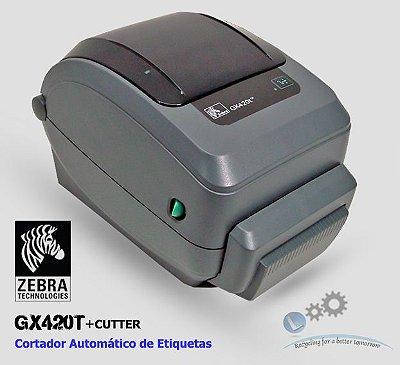 Impressora Zebra GX420T com Cutter