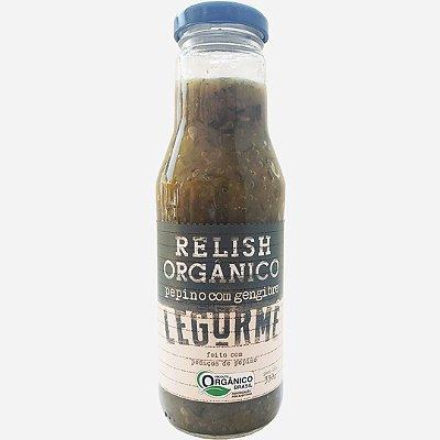 Relish orgânico de pepino com gengibre - 330g