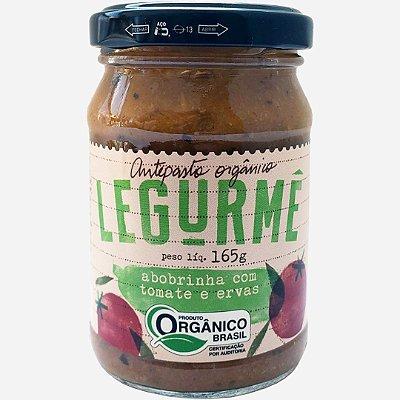 Antepasto orgânico de Abobrinha com Tomate e Ervas 165g