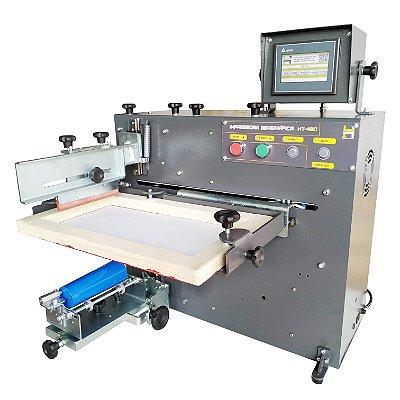 Impressora Serigráfica Elétrica HT-400, Impressão cilíndrica em copos, canecas, taças, long drink