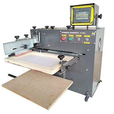 Máquinas Serigráfica Elétrica HT-400 Impressora Plana
