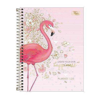 Agenda Planner Espiral Flamingo Aloha 2022 Tilibra