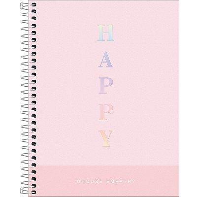 Caderno Espiral Capa Plástica Colegial 1 Matéria Happy