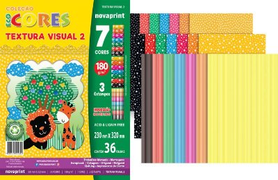 Bloco Criativo Textura Visual 2 Novaprint 180 gramas 36 Folhas