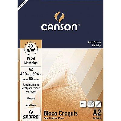 Bloco Croquis Sulfurize/ Manteiga A2 41G 50Folhas Canson
