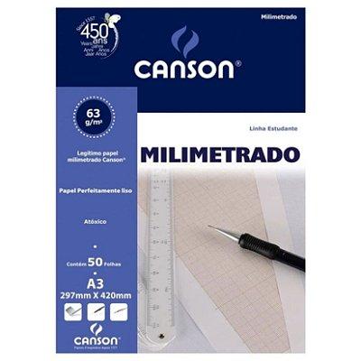Bloco Milimetrado Canson A3 63g 50f