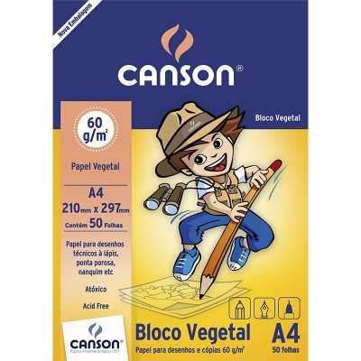 Bloco Papel Vegetal Canson A4 60G 50F