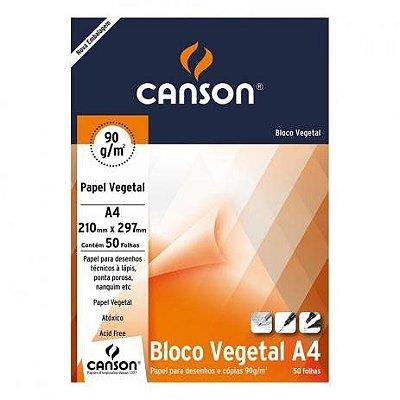 Bloco Vegetal Técnico A4 90g 50 Folhas Canson