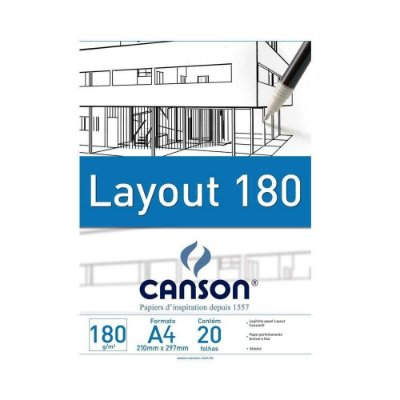 Bloco Layout 180g Tecnico Canson A4  20 Folhas