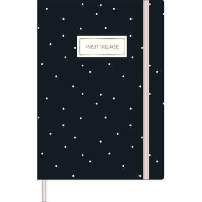 Caderno Costurado Sem Pauta Fitto M West Village 80 Folhas Tilibra