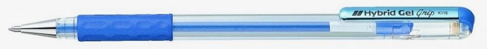 Caneta Hybrid Gel Grip Metallic Azul K118-Mc