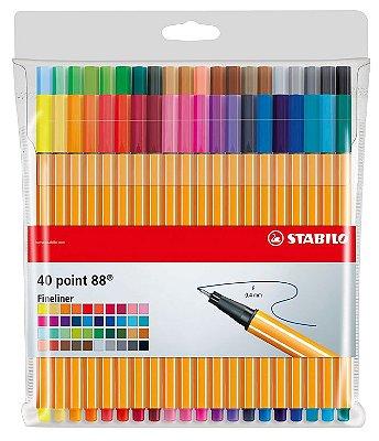 Caneta Stabilo Point 8840-1 Estojo com 40 unidades