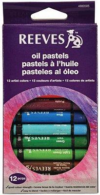 Giz Pastel Oleoso Colorido Reeves C/12 Po12