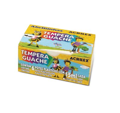 Tinta Guache  C/ 6 Cores 15ml Acrilex