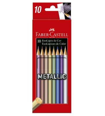 Lapis de Cor 10 Cores Metallic Faber