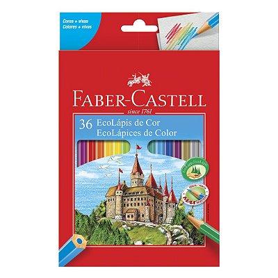 Lápis de Cor 36 Cores Faber Castell Hexagonal