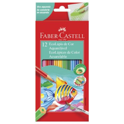 Lapis de Cor Aquarelável 12 Cores Faber Castell