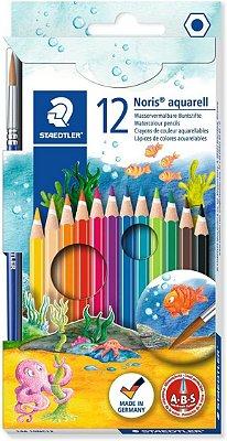 Lápis de Cor Aquarelável 12 Cores Staedtler Noris