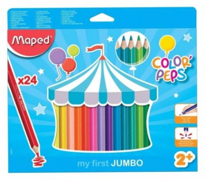 Lápis de Cor Jumbo 24 Cores Maped Color Peps Triangular