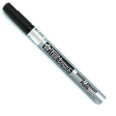 Marcador Artistico Permanente Pen-Touch Sakura - Prata - 41302
