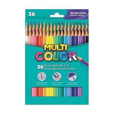Lápis de Cor 36 Cores Super Ponta Multicolor