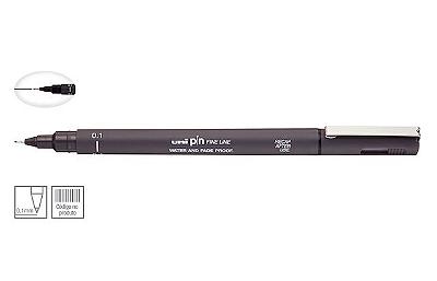 Caneta Nankin Uniball Uni Pin Fine Line - Cinza Escuro