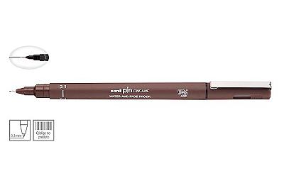 Caneta Nankin Uniball Uni Pin Fine Line - Sépia