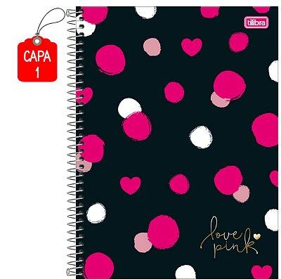 Caderno Universitário Love Pink Tilibra 10 Matérias