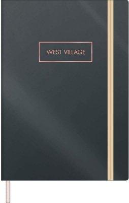 Caderno Costurado Pontilhado Fitto M West Village Metalizada 80 Folhas