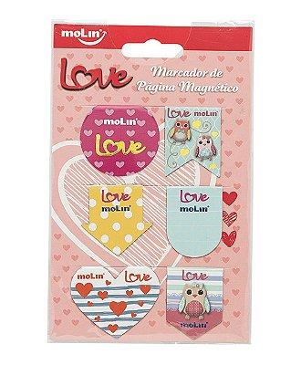 Marcador de Página Magnético Love C/6