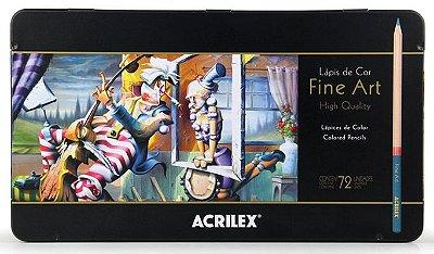 Lapis de Cor Fine Art Técnico Acrilex 72 Cores