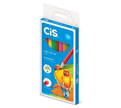 Lápis de Cor 12 Cores Cis Plastic