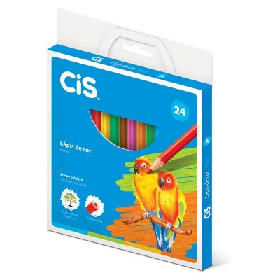 Lápis de Cor 24 Cores Cis Plastic