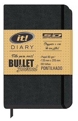 Caderno Bullet Journal It Diary Pontilhado São Domingos 80 Folhas