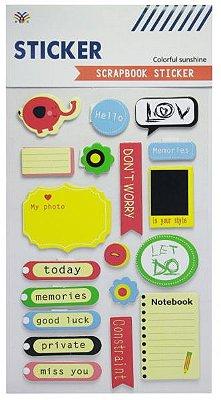 Sticker Scrapbook 3D - Colorful Sunshine Notes