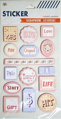 Sticker Scrapbook 3D - Colorful Sunshine Words