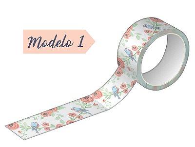 Fita Adesiva Washi Tape Tilibra 15mmX10m Estampada