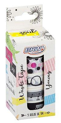 Fita Adesiva Washi Tape Brw 15mmx5m c/ 5 - Young