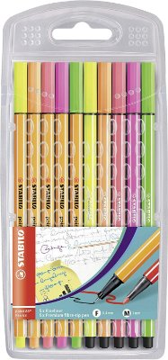 Caneta Stabilo Neon Duo Point 88 Pen 68 - 8868 - Estojo com 10 unid