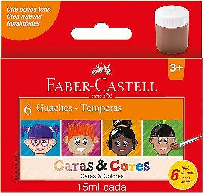 Guache Faber-Castell Caras & Cores Tons de Pele