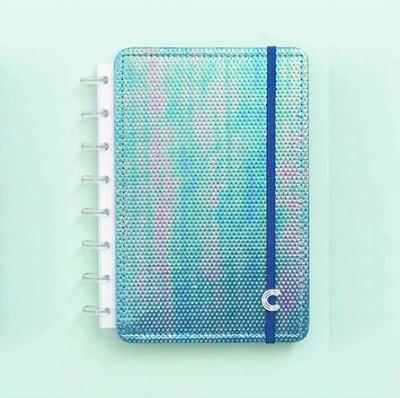 Caderno Inteligente Azul Holográfico A5