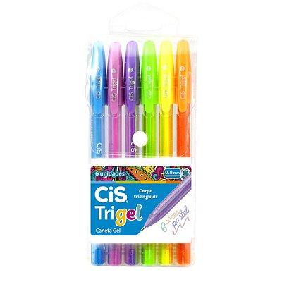 Caneta Cis Trigel Estojo com 6 cores Pastel