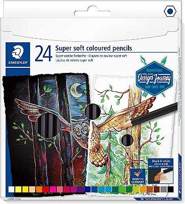 Lápis de Cor Staedtler Super Soft 24 Cores