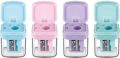 Apontador c/ Depósito Faber Castell Minibox Pastel