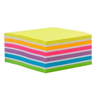 Bloco Adesivo Arco-Íris Maxprint 400folhas 76x76
