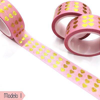Fita Adesiva Washi Tape Brw  - Shine Modelo 1 ao 10