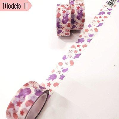 Fita Adesiva Washi Tape Brw Nature Modelo 11 ao 20