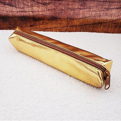 Estojo Metalizado Rocie Dourado
