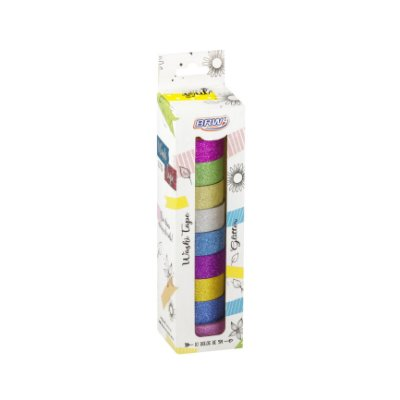 Fita Adesiva Washi Tape Brw 15mmx5m c/ 10 - Glitter